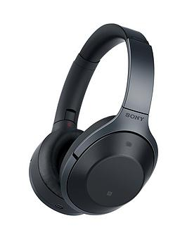 Sony Mdr1000X Bluetooth Noise Cancelling Ambient Sound Touch Sensor High Resolution Audio Headphones  Black
