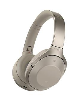 Sony Mdr1000X Bluetooth Noise Cancelling Ambient Sound Touch Sensor High Resolution Audio Headphones  Beige