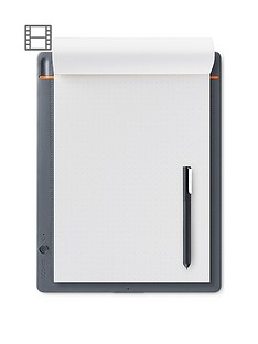 wacom-bamboo-slate-digital-notepad-a4-large-smart-notebook-included-stylus-with-ballpoint-pen-compatible-with-android-and-apple