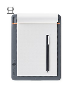 wacom-bamboo-slate-digital-notepad-a5-small-smart-notebook-included-stylus-with-ballpoint-pen-compatible-with-android-and-apple