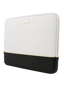 kate-spade-new-york-colour-block-13inch-macbooklaptop-sleeve-saffiano-blackcreamgold