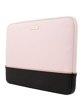 Kate Spade New York Colour Block 13&Rdquo MacbookLaptop Sleeve &Ndash Saffiano BlackRose GoldRose Quartz