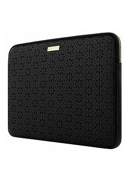 Kate Spade New York Perforated 13Inch MacbookLaptop Sleeve &Ndash Black