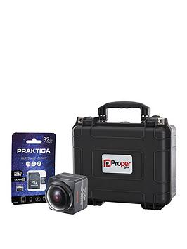 Kodak Pixpro Sp360 Action Camera Dual Pro Pack Inc Hard Case &Amp 32Gb