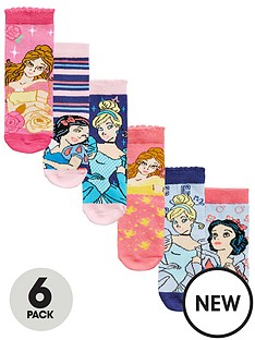 disney-princess-6-pack-of-girls-socks