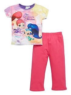 shimmer-and-shine-shimmer-and-shine-girls-short-sleeve-pyjamas