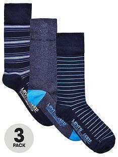 levis-levis-3pk-stripeplain-sock