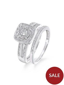 love-diamond-9ct-white-gold-50-point-diamond-square-set-split-shoulder-bridal-set-of-two-rings