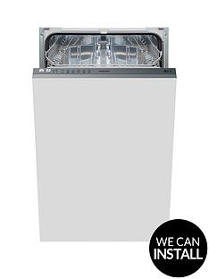 hotpoint-aquarius-lstb6m19-built-in-10-place-slimline-dishwasher-with-optional-installation-stainless-steel