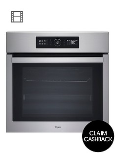 whirlpool-absolute-akz6230ix-built-in-electric-single-oven-with-optional-installation-stainless-steel