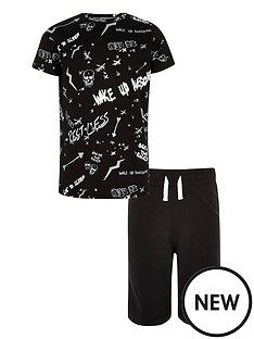 river-island-boys-039break-the-rules039-scribble-print-pyjamas