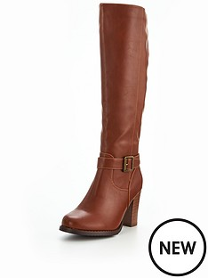 v-by-very-prosper-cleated-sole-buckle-detail-knee-high-boot-tan