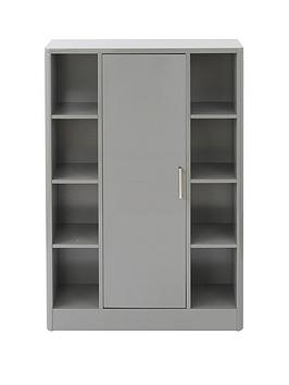 Lloyd Pascal Lloyd Pascal Luna Hi-Gloss Bathroom Console Unit - Grey Picture