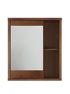 westbaynbspsolid-wood-mirrored-bathroom-wall-cabinet