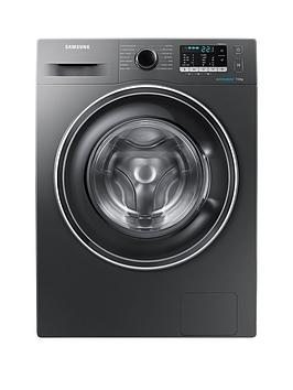 Samsung Ww70J5555ExEu 7Kg Load 1400 Spin Washing Machine With Ecobubble&Trade Technology  Graphite
