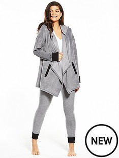dkny-long-sleeve-hooded-cozy-lounge-set-grey