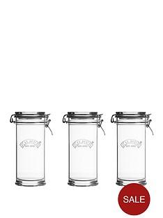 kilner-kilner-signature-105l-set-of-3-clip-top-jar