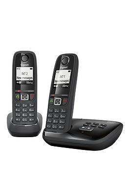 Gigaset Gigaset As405A Twin Cordless Phone  Black