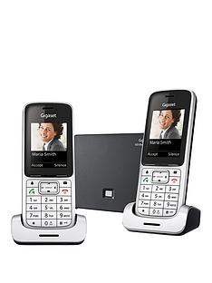 gigaset-gigaset-sl450a-go-twin-cordless-phone-silver