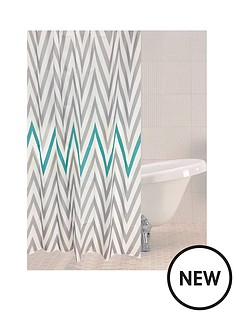 sabichi-chevron-shower-curtain