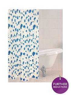 sabichi-blue-poppy-shower-curtain