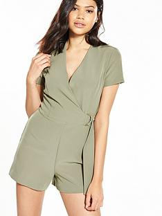 miss-selfridge-d-ring-wrap-playsuit