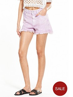 miss-selfridge-acid-wash-short