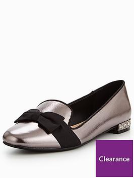 v-by-very-sally-jewel-heel-bow-ballerina-silver