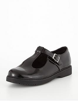 v by very holly patent t-bar shoe