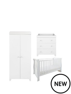 little-acorns-sleigh-cot-bed-changer-amp-wardrobe-set-white