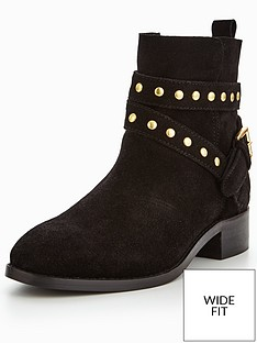 v-by-very-arla-wide-fit-real-suede-stud-flat-ankle-boot-black