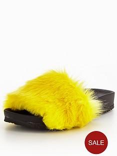 v-by-very-teddy-fluffy-slider-yellow