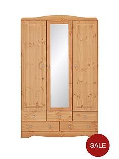 milford-3-door-5-drawer-mirrored-wardrobe