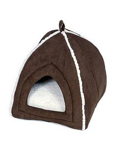 petface-mollie039s-luxury-faux-suede-igloo-cat-bed