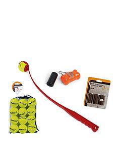 petface-walkies-starter-kit-ball-launcher-with-tennis-balls-doodoo-bags-amp-dispenser