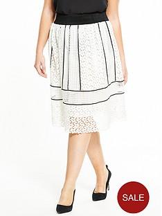 elvi-curve-monochrome-lace-skirt