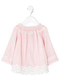 river-island-mini-girls-pink-lace-crochet-bardot-top