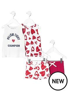 river-island-girls-pink-print-pyjama-set-multipack