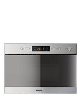 Hotpoint Class 3 Mn314Ixh 60Cm BuiltIn Microwave With Grill And Optional Installation  Stainless Steel  Microwave With Installation