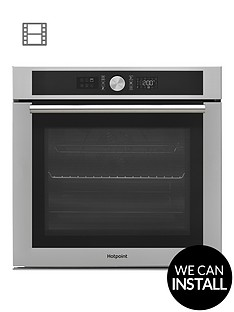 hotpoint-si4854pix-60cm-built-in-electric-single-oven-with-optional-installation-stainless-steel