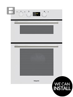 hotpoint-dd2540wh-60cm-electric-built-in-double-oven-with-optional-installation-white