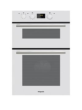 Hotpoint Dd2540Wh 60Cm Electric Built In Double Oven   Oven Only