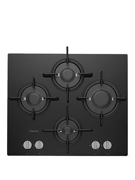 Hotpoint Ftghg641DH(Bk) 60Cm BuiltIn Gas Hob With Fsd And Optional Installation  Black  Hob With Installation