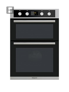 hotpoint-class-2-dd2844cix-60cmnbspbuilt-in-double-electric-oven-stainless-steelblack