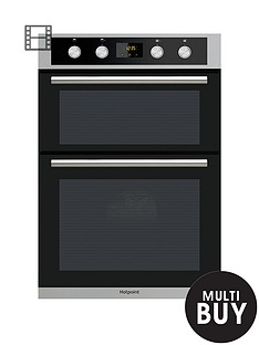 hotpoint-class-2-dd2844cix-60cmnbspbuilt-in-double-electric-oven-with-optional-installation-stainless-steelblack