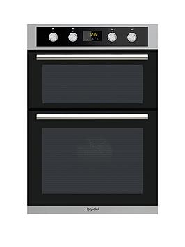 Hotpoint   Class 2 Dd2844Cix 60Cm Built-In Double Electric Oven - Stainless Steel/Black - Oven Only