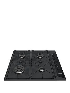 Hotpoint Pas642Hbk 58Cm Wide BuiltIn Gas Hob   Hob With Installation