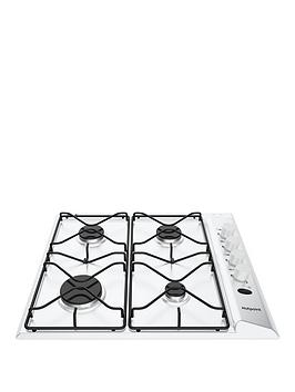 Hotpoint   Pas642Hwh 58Cm Wide Built-In Gas Hob With Fsd - White - Hob Only