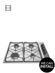 hotpoint-pan642ixh-60cm-wide-built-in-hob-with-optional-installation-stainless-steel