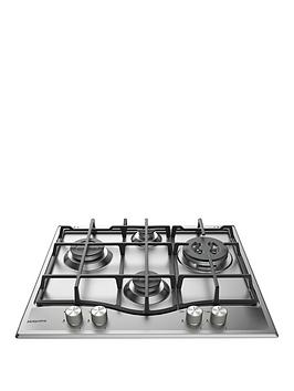 Hotpoint   Pcn641Ixh 60Cm Wide Built-In Gas Hob With Fsd - Stainless Steel - Hob Only